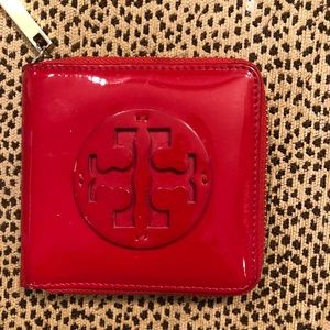 *RARE* Tory Burch red patent leather wallet.